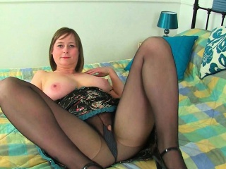 English milfs Janey and April massage their big heart of hearts