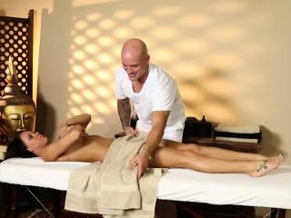 Shut up shop voyeur movie of nasty masseur deepfucking clientele