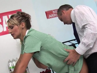 Two busty blonde nurses respect a detect