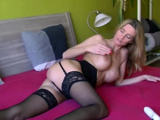 Czech MILF Lexie Starr is effectuation with say no to fat dildo