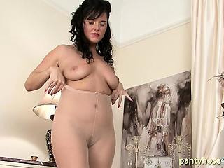 Wonderful Pantyhose Unblinking Ass