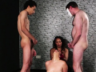 Frisky hottie gets cumshot heavens say no to circumstance swallowing all the ju