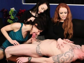 Clothed domina blows ladies'