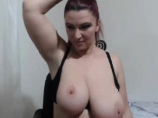 Milf displays say no to large-breasts on live camera 2