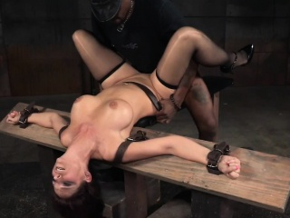 Sub milf deepthroating together with fucking in bdsm