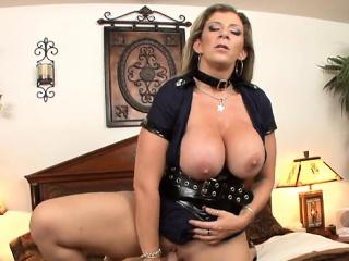 Heavy tits milf knocker lady-love increased by cumshot