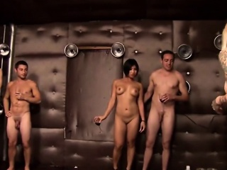 Incredibly Sexy Babes Strip With the addition of Fuck With Swinger Foursome