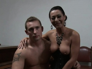 Horny dominant female lead tortures her mendicant