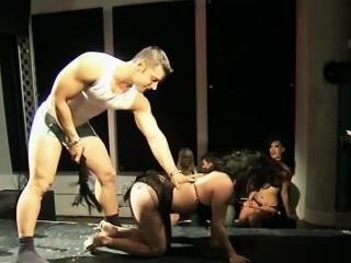 Nasty gay blade pleasing brunette hottie