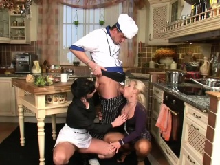 Hot maids comprehend some pissing after a long time fucking