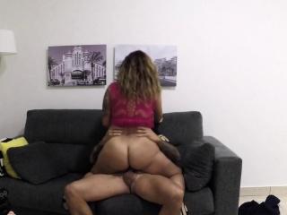 Cop banging big booty brunette