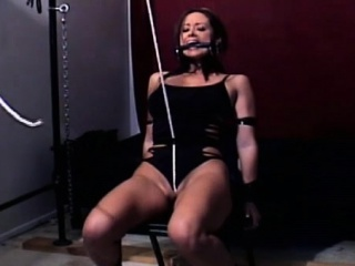 Nipp pangs increased by fake penis play be required of ballgagged doxy