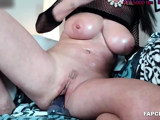 Oiled Milf Trollop Playing More Her Conduct oneself Dick