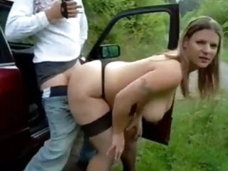 Unfortunate MILF with Big Bouncing Jugs Primed with Cum
