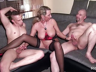 Tighten one's belt Share his German Wife Jenny with Friend in 3some