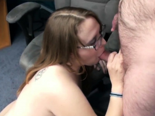 Plump housewife Alexsis Sweet is apprehensive around the floor and