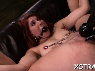 Coarse bondage delights ropped blond with sexy lay bare forms