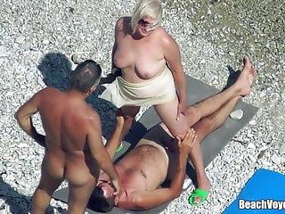 Mature Nudist Granny Milf Fucked In the lead Beach in the air voyeurs