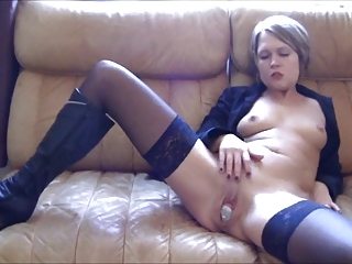 German MILF Plays In Cock Can,By Blondelover.