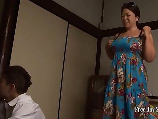 Japanese bbw mother and son had fucked