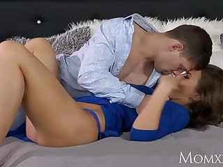 MOM Big tits milf with plump wet pussy rides a young stallion to orgasm