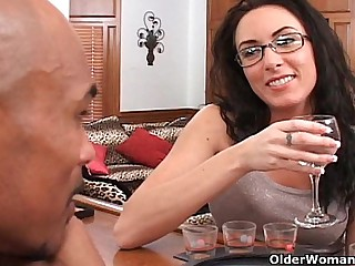 Soccer mom Katrina Isis gets cum shower