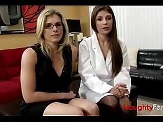 Mom and female doctor fucking guy